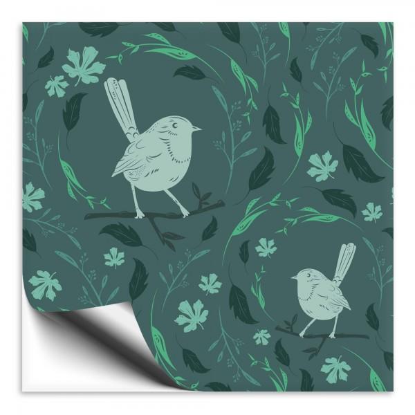 Fliesenaufkleber Vogel grün 2