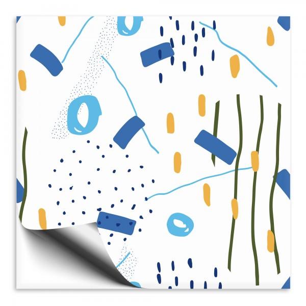 Fliesenaufkleber Abstrakt blau 2