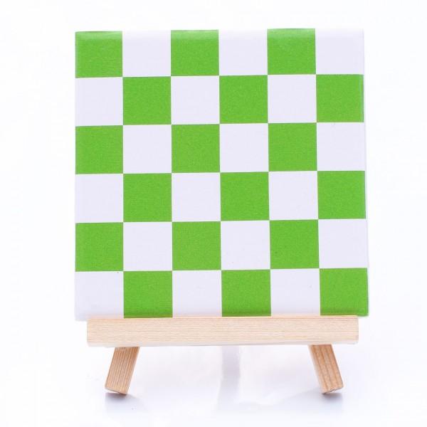 Fliesenaufkleber Mosaik grün/weiß