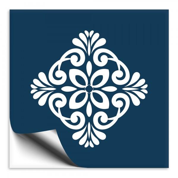 Fliesenaufkleber Marokko Ornament blau 26