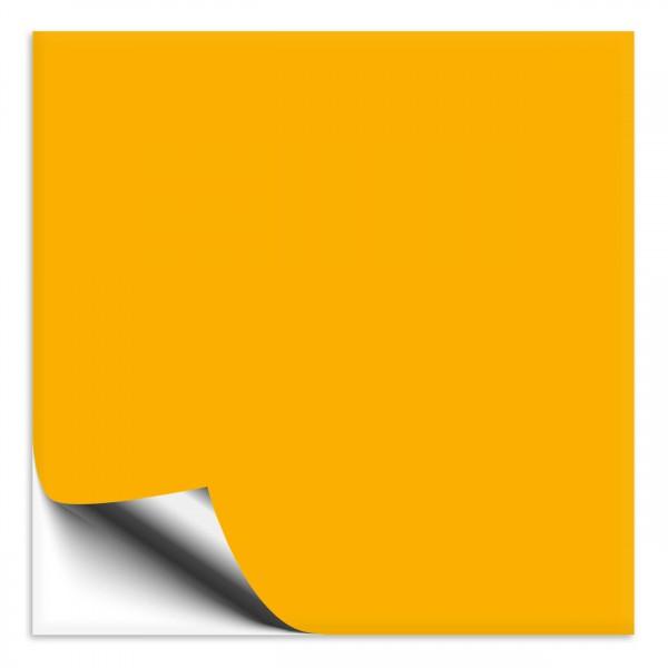 Fliesenaufkleber 25x25 cm goldgelb