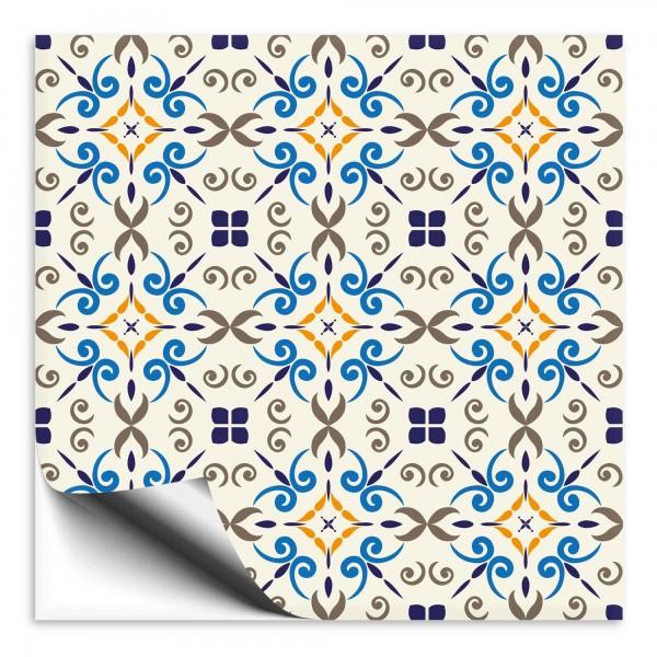 Fliesenaufkleber Marokko Ornament bunt 5