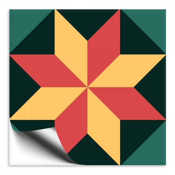 "Fliesenaufkleber Ornamente ""Portugal"" grün-gelb 5"