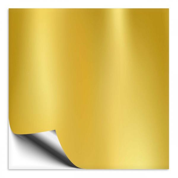 Fliesenaufkleber 25x25 cm gold