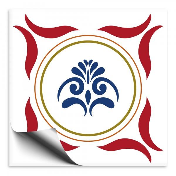 Fliesenaufkleber Marokko Ornament rot 12