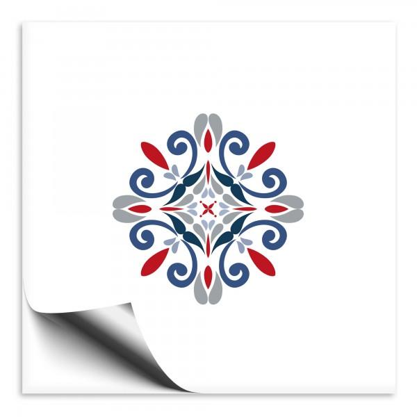 Fliesenaufkleber Marokko Ornament bunt 28