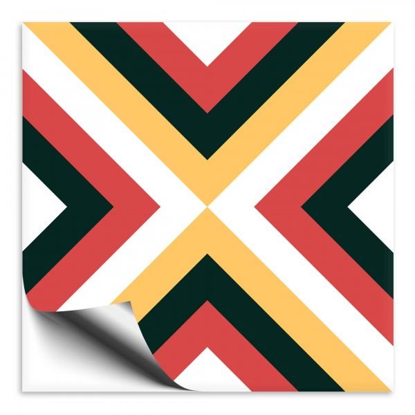 "Fliesenaufkleber Ornamente ""Portugal"" grün-gelb 6"