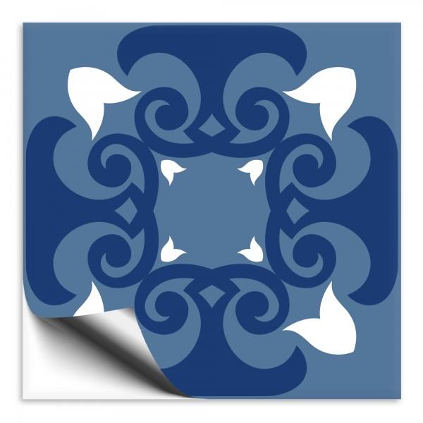 Fliesenaufkleber Marokko Ornament blau 39