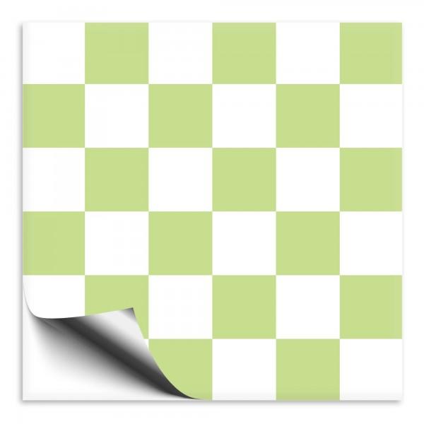Mosaik Fliesenaufkleber weiß/limegrün
