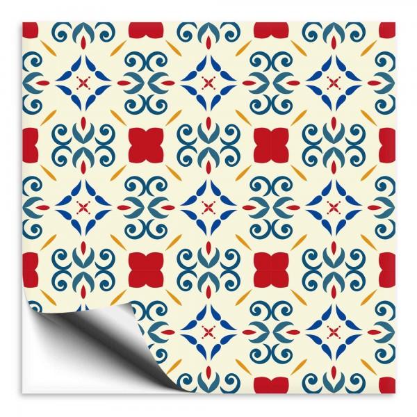 Fliesenaufkleber Marokko Ornament bunt 20