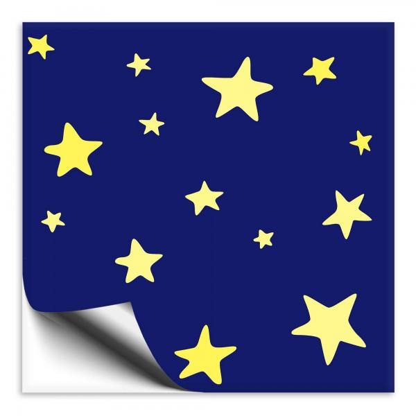 Fliesenaufkleber Sterne blau