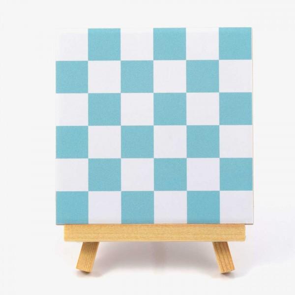 Fliesenaufkleber Mosaik hellblau/weiss
