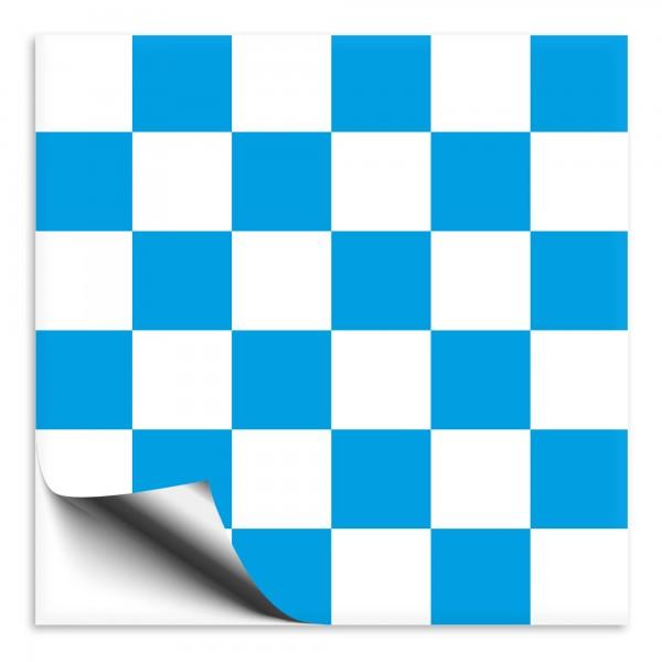 Mosaik Fliesenaufkleber weiß/blau