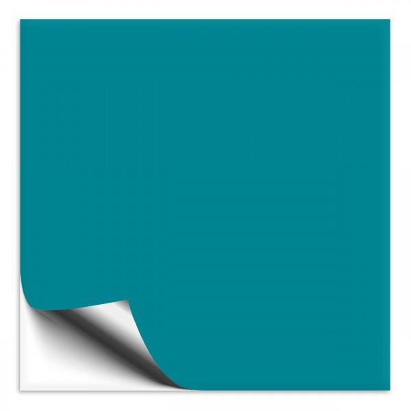 Fliesenaufkleber türkisblau in Maßanfertigung