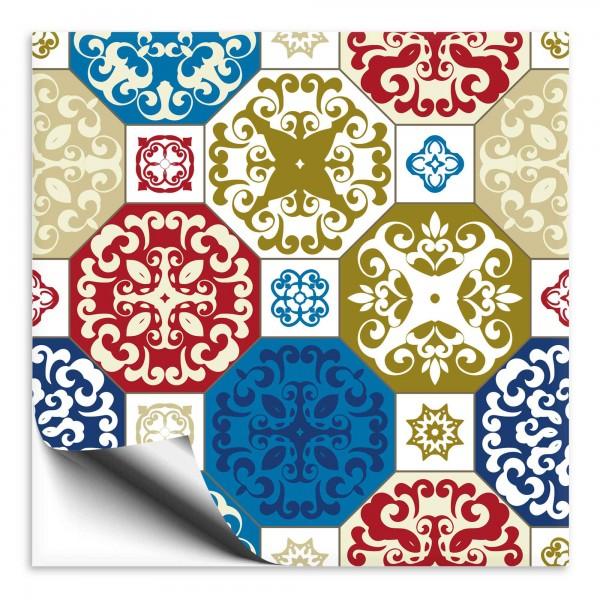 Fliesenaufkleber Marokko Ornament bunt 41