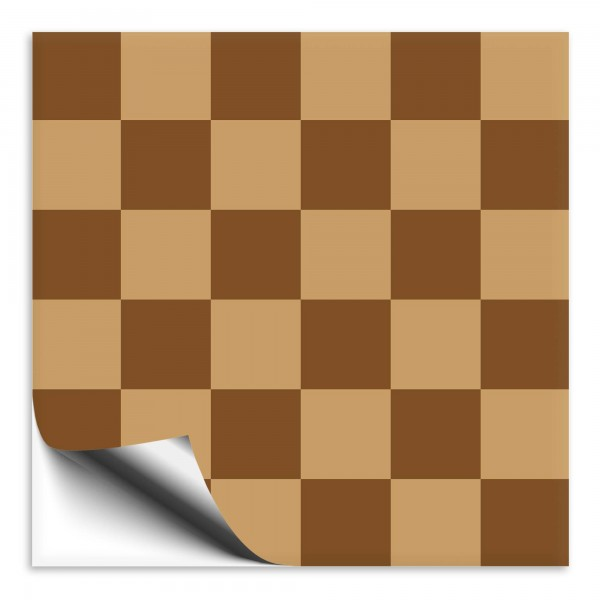 Fliesenaufkleber Mosaik braun/dunkelbraun