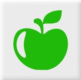 Fliesenaufkleber Apfel