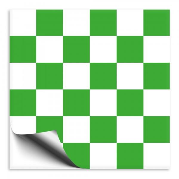 Mosaik Fliesenaufkleber grün/weiß
