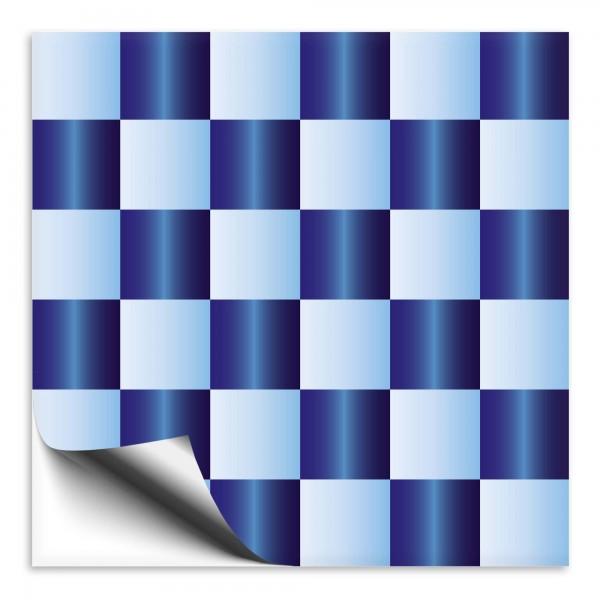 Fliesenaufkleber Mosaik hellblau/dunkelblau