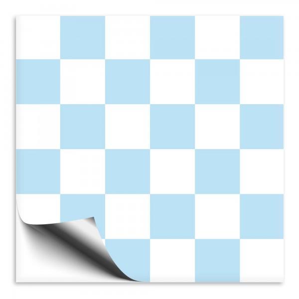 Fliesenaufkleber Mosaik weiß-hellblau