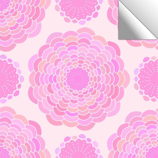 Fliesenaufkleber Blumen rosa