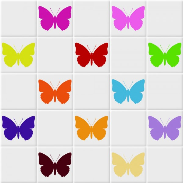 Fliesenaufkleber Schmetterling