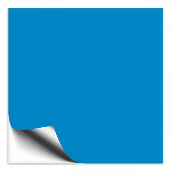 Fliesenaufkleber 10x10 cm hellblau