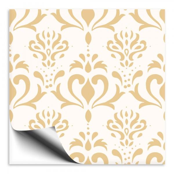 Ornamente Fliesenaufkleber beige