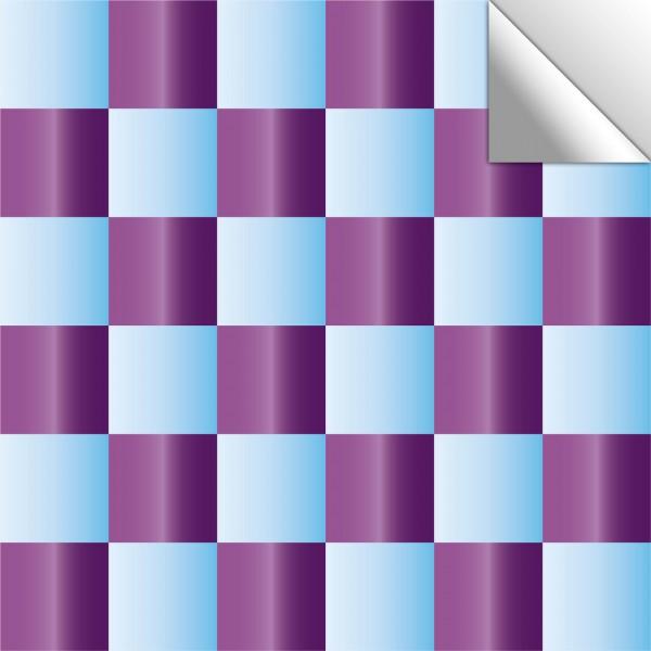 Fliesenaufkleber Mosaik blau/lila schimmernd