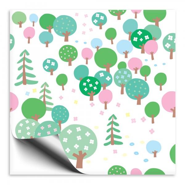 Fliesenaufkleber Wald grün