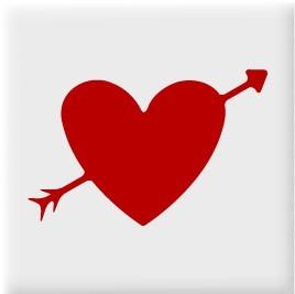 Fliesenaufkleber Herz mit Pfeil