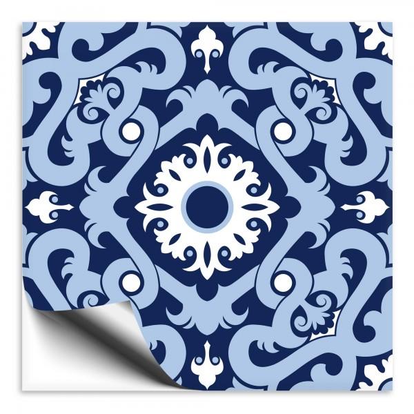 Fliesenaufkleber orientalisch blau weiss 3