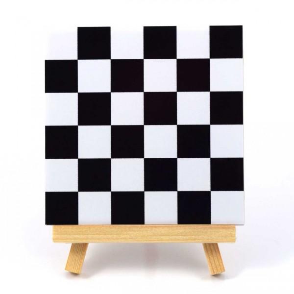 Fliesenaufkleber Mosaik schwarz/weiss