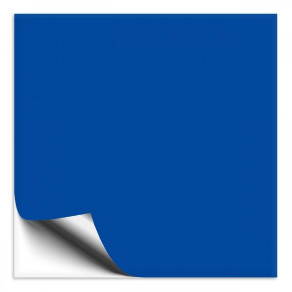Fliesenaufkleber 33x33 cm azurblau