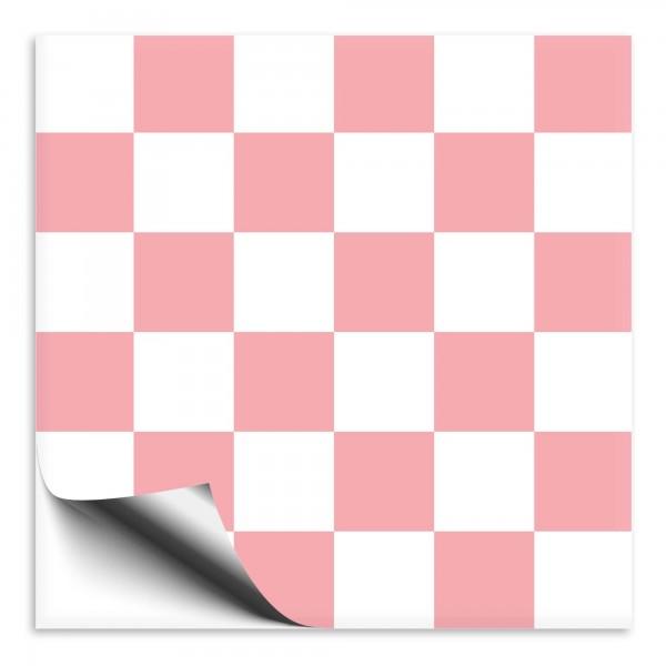 Fliesenaufkleber rosa/weiß Mosaik