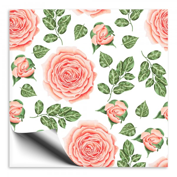 Rosen Fliesenaufkleber