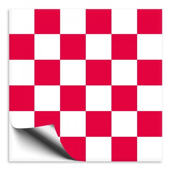 Mosaik Fliesenaufkleber weiß/rot