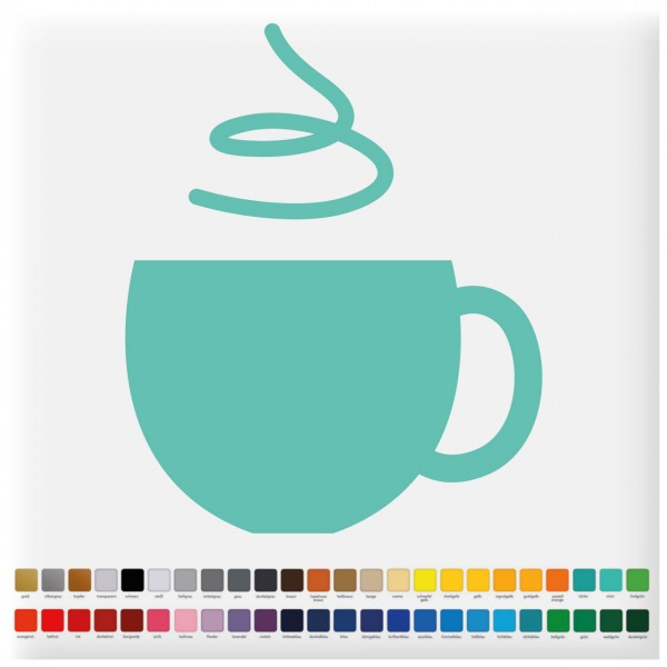 Fliesenaufkleber Kaffeetasse