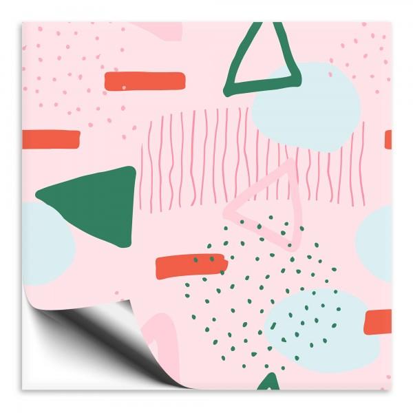 Fliesenaufkleber Abstrakt rosa 2