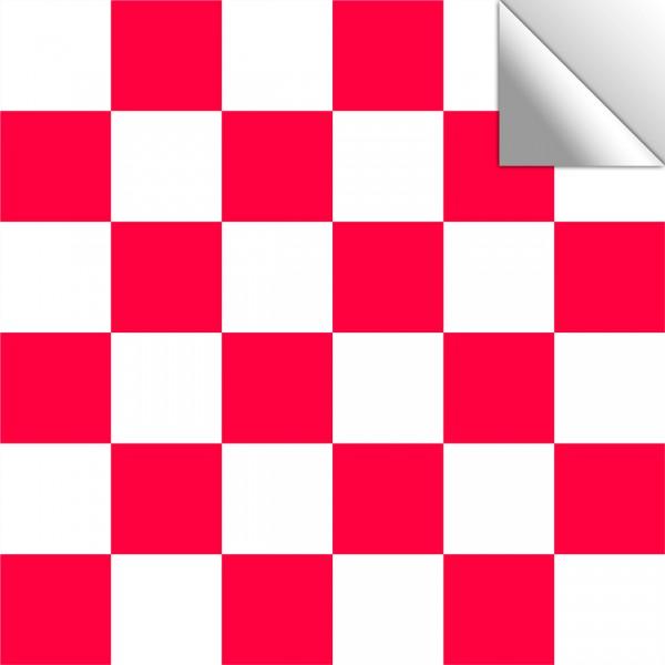 Fliesenaufkleber Mosaik weiß/rot