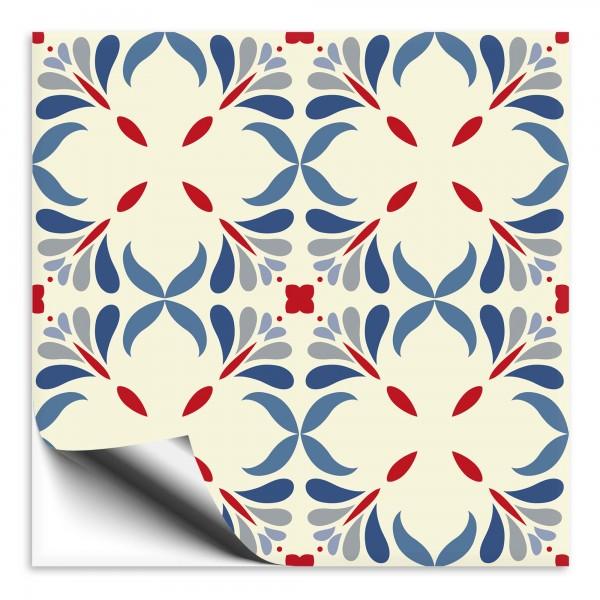 Fliesenaufkleber Marokko Ornament bunt 14
