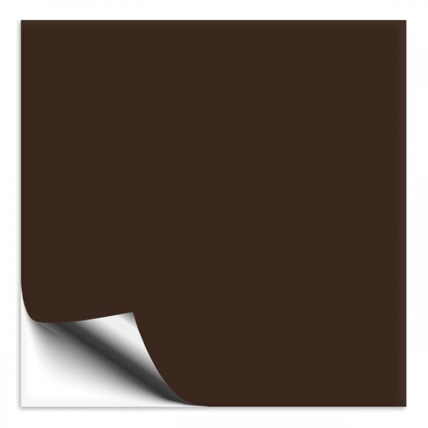 Fliesenaufkleber 15x15 cm braun