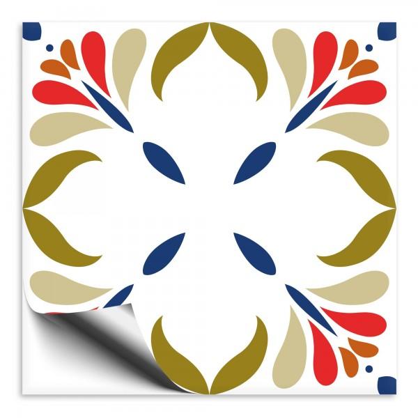 Fliesenaufkleber Marokko Ornament bunt 9