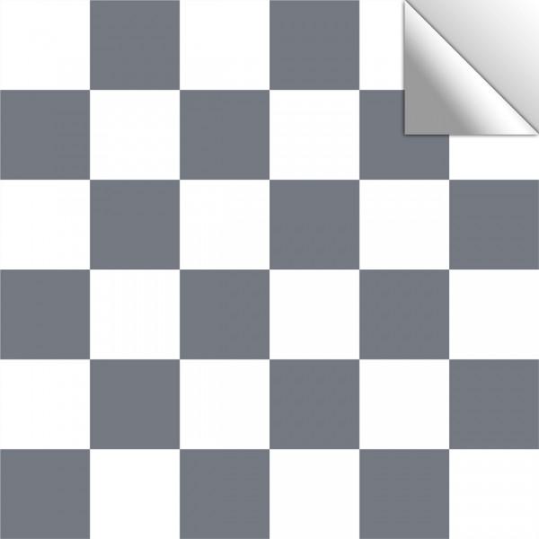 Fliesenaufkleber dunkelgrau/weiß