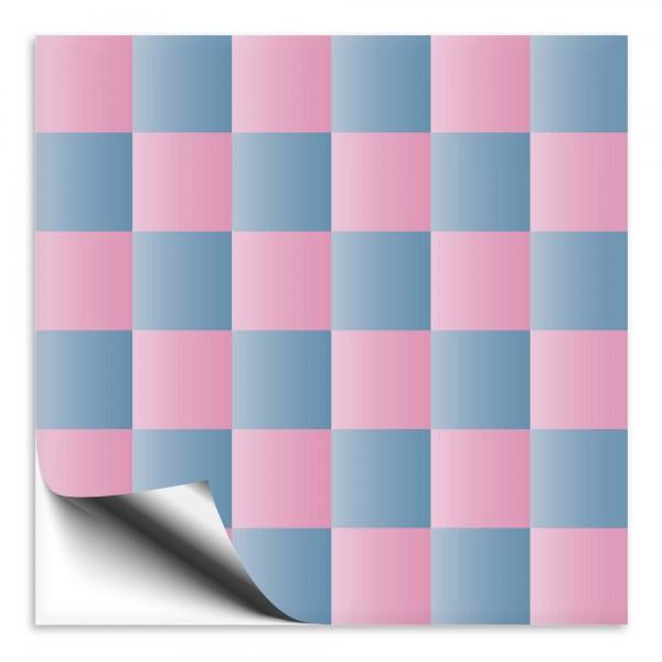 Fliesenaufkleber rosa/blau Mosaik