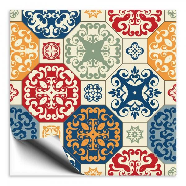 Fliesenaufkleber Marokko Ornament bunt 36