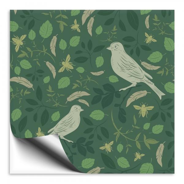Fliesenaufkleber Vogel grün 1
