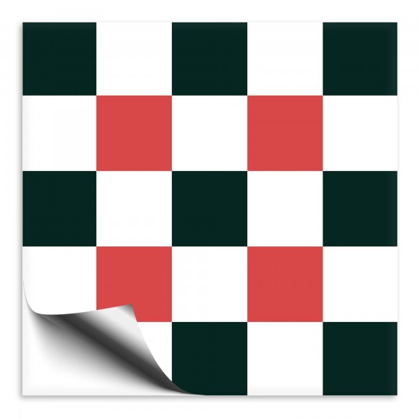 "Fliesenaufkleber Ornamente ""Portugal"" rot-dunkelgrün 8"