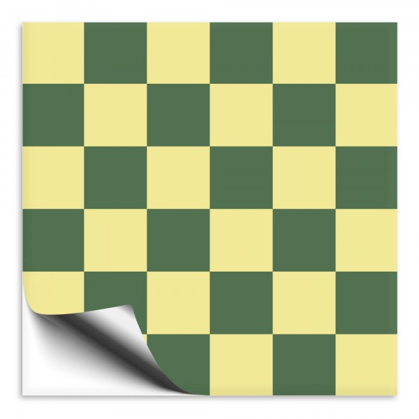 Fliesenaufkleber grün/dunkelgelb Mosaik