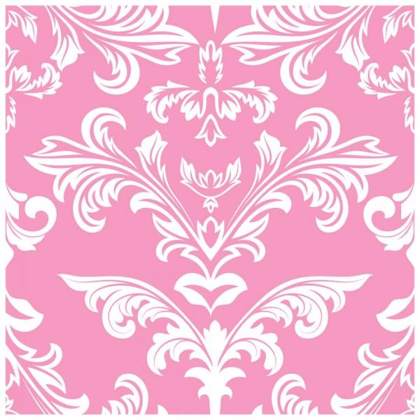 Fliesenaufkleber Ornamente pink